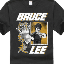 Bruce Lee Mens T Shirt In Sizes Sm 4Xl New Hand 100% Black Cotton