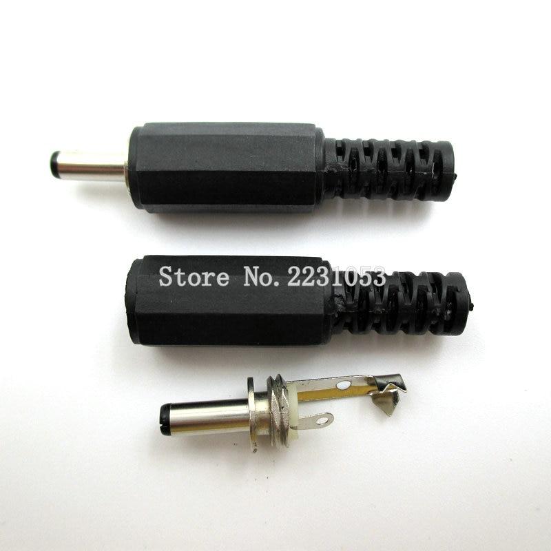 цена на 10PCS/Lot 3.5 mm*1.3 mm Male Solder DC Power Barrel Tip Plug Jack Connector Adapter