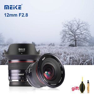 Image 1 - Meike lente de cámara gran angular F2.8 de 12mm lente fija de enfoque Manual de APS C para cámara Canon, EF M, Fujifilm, Sony, Nikon, 1 M4/3