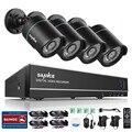 Sannce  4CH CCTV System 720P HDMI AHD CCTV DVR 4PCS 1.0 MP IR Outdoor Security Camera 1200 TVL Camera Surveillance System