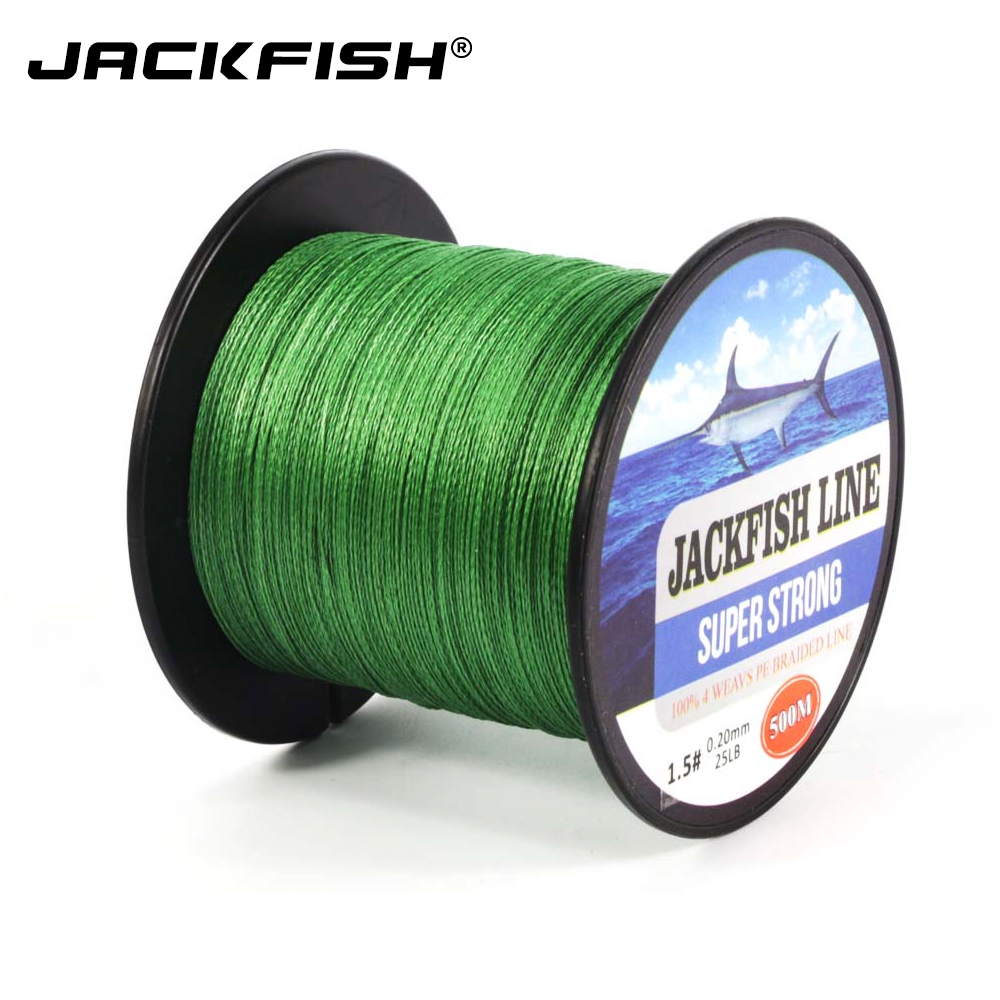 JACKFISH 4 strand 500M Super Strong PE Braided Fishing Line 10-60LB PE Fishing Line With gift Carp Fishing Saltwater электрическая плитка tesler pe 10 white pe 10 white