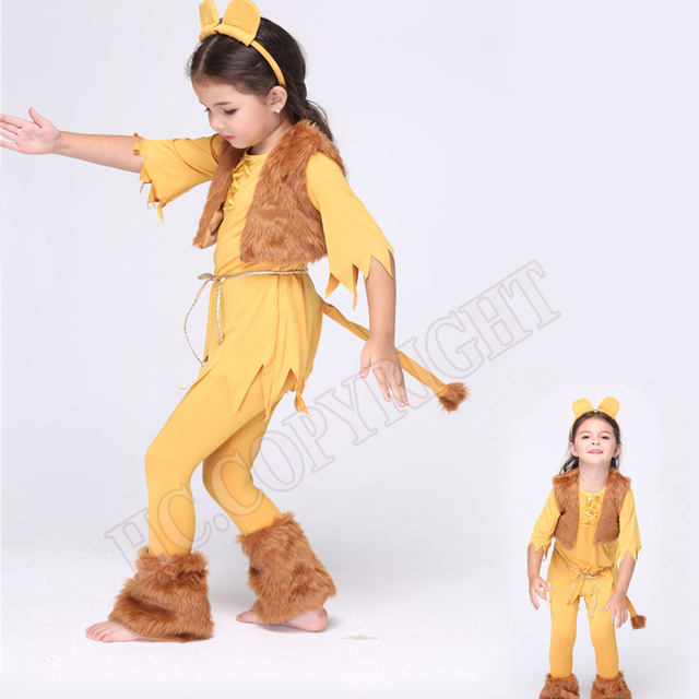 New Child Animal Cosplay Cute Lion Costume Kids Halloween Costumes For Girls Performance Clothes Carnival Dresses  sc 1 st  AliExpress.com & New Child Animal Cosplay Cute Lion Costume Kids Halloween Costumes ...