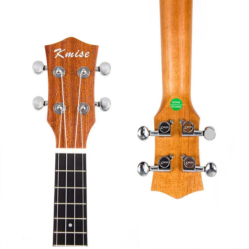 Kmise Ukulele Concert Solid Spruce Ukelele Uke 4 String ฮาวายกีตาร์ Mahogany 18 Fret กับ GIG BAG