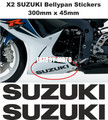 Decals Stickers for Bellypan for SUZUKI GSXR 600 / 750 / 1000 (PAIR) (ANY COLOUR)