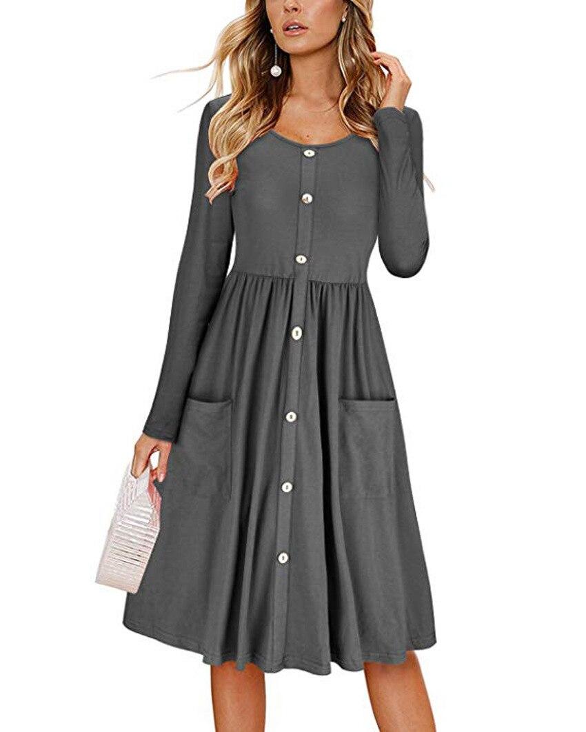 9e790cbf7d OWLPRINCESS New Casual Large Autumn Winter Dresses Women Vadim Long Sleeve  Elegant Dress Femme Plus Size Vestidos Mujer 2018