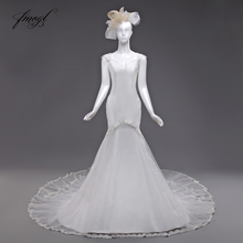 Fmogl Vestido De Noiva Mermaid Wedding Dresses Sleeveless