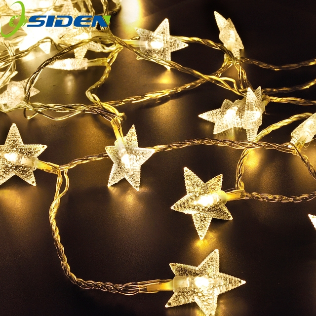 OSIDEN10M LED Fairy Star String Lights 100LEDs Leaf Garland Holiday Light  For Christmas Wedding Decoration Party
