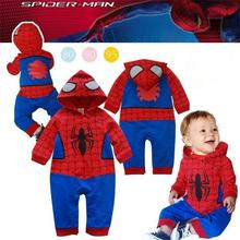 NEW SPIDERMAN Baby boy girl rompers 100% Cotton long short sleeve Superman Rompe
