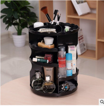 Assembly Wave Edge Circular 360 Degree Rotating Cosmetic Box Rotating Cosmetic Storage Rack, Cosmetic Tabletop Storage Box