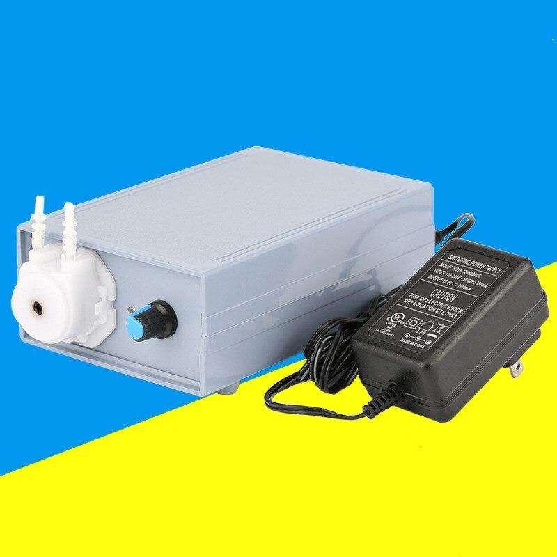 Pompe péristaltique Ajustable Débit Silicone Tube 6 V/12 V/24 V avec adaptateur