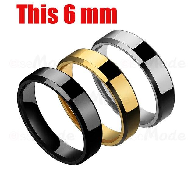 ELSEMODE Black Titanium Stainless Couple Rings 3