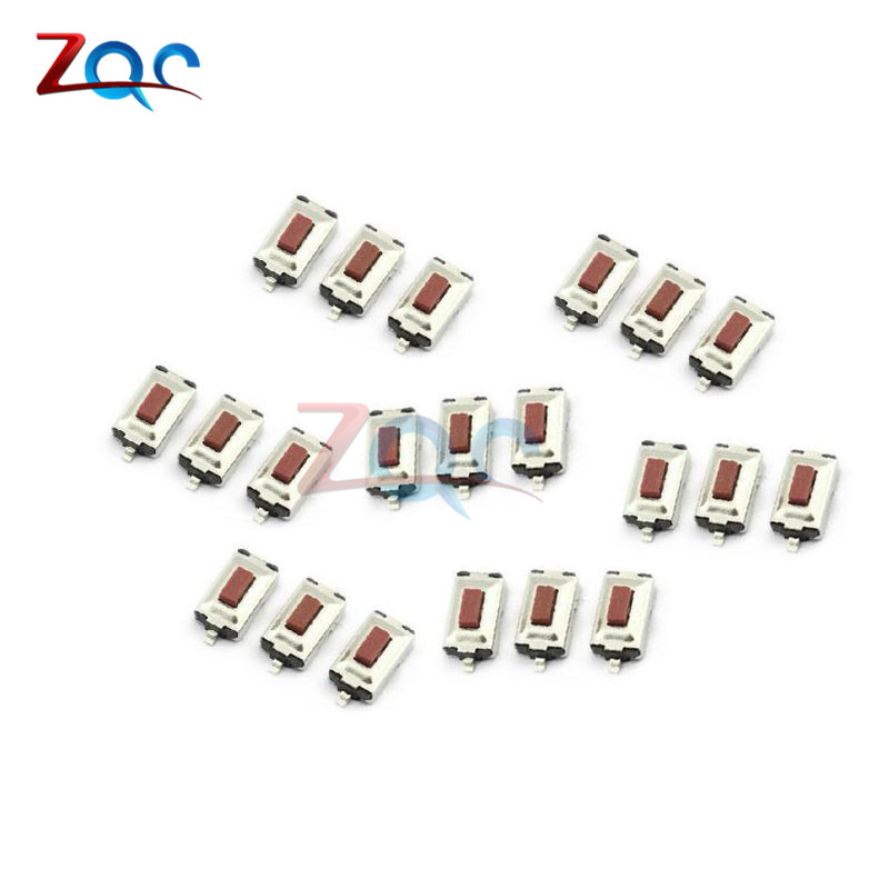 100pcs 3X6X2.5mm Tactile Push Button Switch Tact Switches Mini Micro Switch 2-Pin SMD 20pcs lot 8x8x5 5mm 2pin g78 conductive silicone soundless tactile tact push button micro switch self reset free shipping