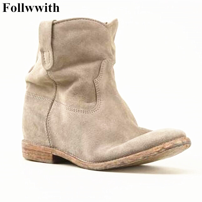New Lady Fashion Woman Nubuck Leather Motorcycle Ankle Boots Women Spring/Autumn Hidden Heel Shoes Leisure Boots Free Shipping 2016 spring and summer free shipping red new fashion design shoes african women print rt 3