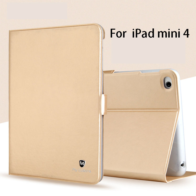 Luxury Silicone PU Leather Case For Apple ipad mini 4 Smart Case Back Cover Funda Tablet Flip Stand Shell For iPad mini4 7.9'' floveme 7 9 mini4 transparant slim thin cover for apple ipad mini 4 case soft silicone gel crystal clear back funda cases