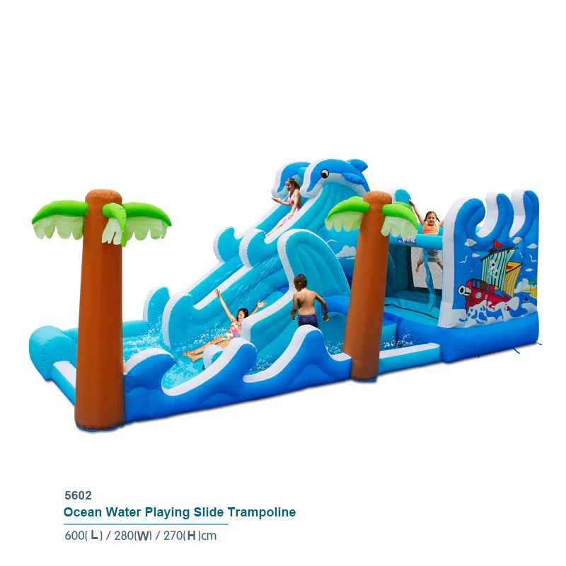 HTB1VyaDPpXXXXb0XVXXq6xXFXXXw - Inflatable Bouncer Bounce House With Double Water Slide, Air Trampoline, and Mesh Swimming Pool