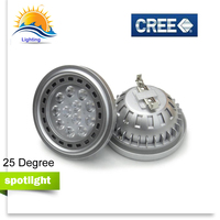 Светодио дный прожекторы удара затемнения G53 GU10 AR111 ES111 QR111 свет лампы DC 12 V AC 110 V 220 V 12 w 15 w лампы рынок холодная теплый белый