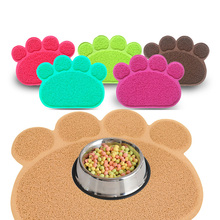 Easy Folding Feeding Bowl Waterproof Paw Print Dog Cat Litter Mat Puppy Kitty Dish Placemat Tray Tidy Cleaning Sleeping Pad