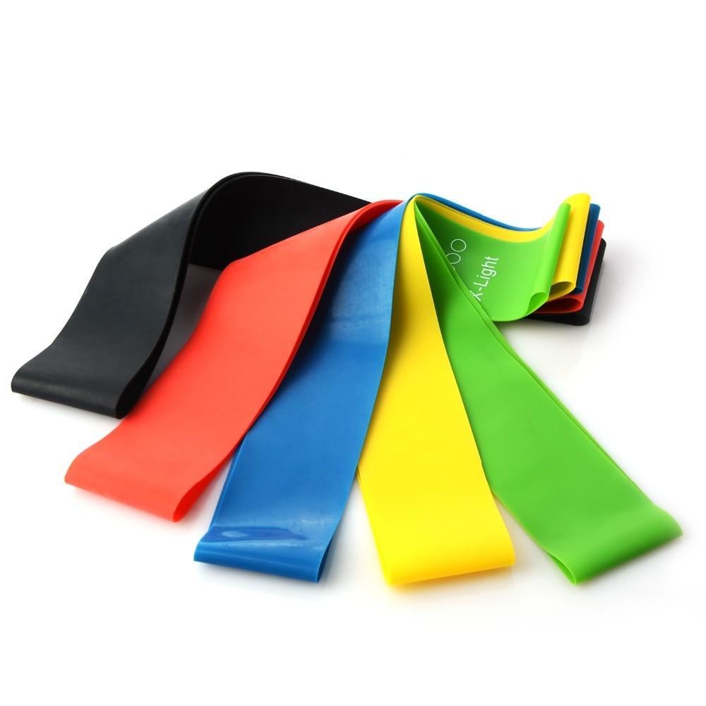 5 Colors Yoga Resistance Rubber Bands (4)