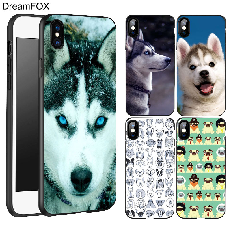 DREAMFOX K198 Sled Dogs Black Soft TPU Silicone Case Cover For Apple iPhone X 8 7 6 6S P ...