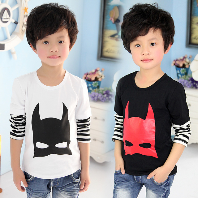 Kid's Boy Cartoon Graphic Patterns Baby Child Two Piece Decoration Long-sleeve T-shirt L1295
