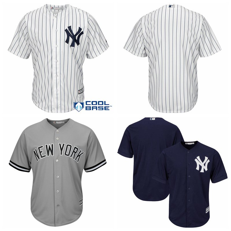 new arrivals 83ea3 a3c87 new york yankees blank gray jersey