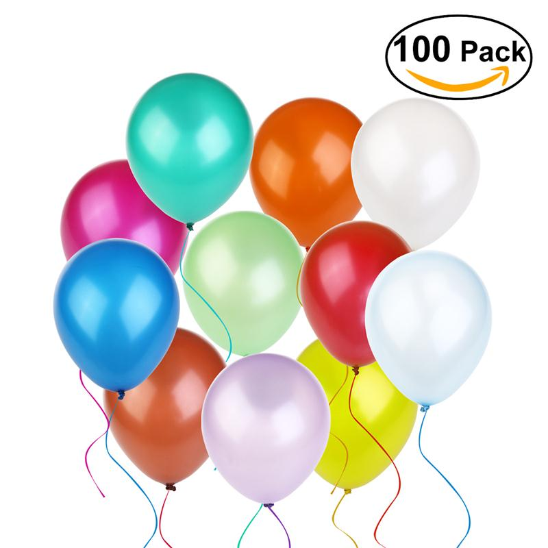2017 100pcs 12 Inch Helium Round Balloons Thick Pearl Balloons Wedding Party Bir