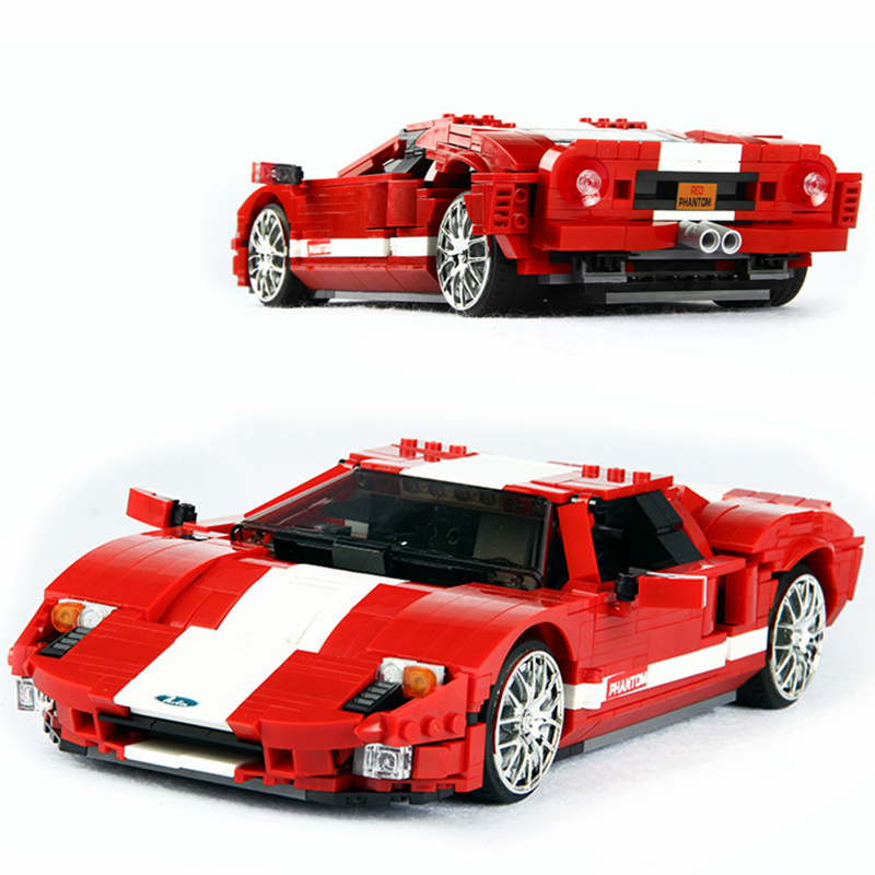 XINGBAO Technic GTR Creator Speed Champions Mustangs Building Blocks Bricks City Car Model Kids Toys Gifts Compatible Legoings lepin 21004 technic the red sports car f40 compatible 10248 model building blocks kids toys gifts lepin city speed champions