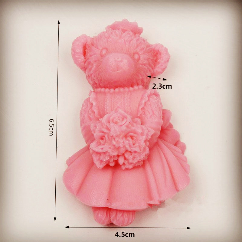 3D bear shape soap mould silicone soap making Cake Decoration Mold