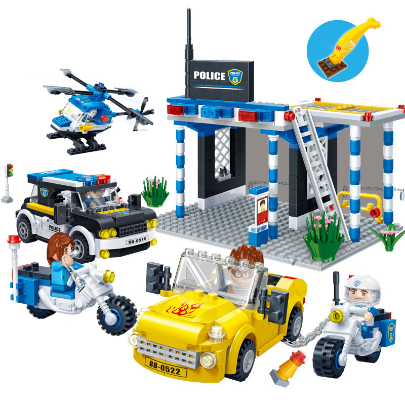 728pcs Kids Blocks Toys Police Station City Brick Building Construction Educational Toys for Children Model Building Kits Gifts dayan gem vi cube speed puzzle magic cubes educational game toys gift for children kids grownups