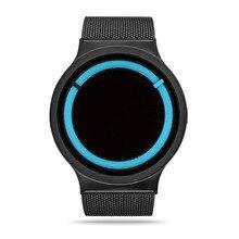 Creativa StrapTop Malla De Acero Mens Relojes Marca de Moda de Lujo Casual Hombres De Plata de Cuarzo Wriswatch Sport relogio masculino Regalo