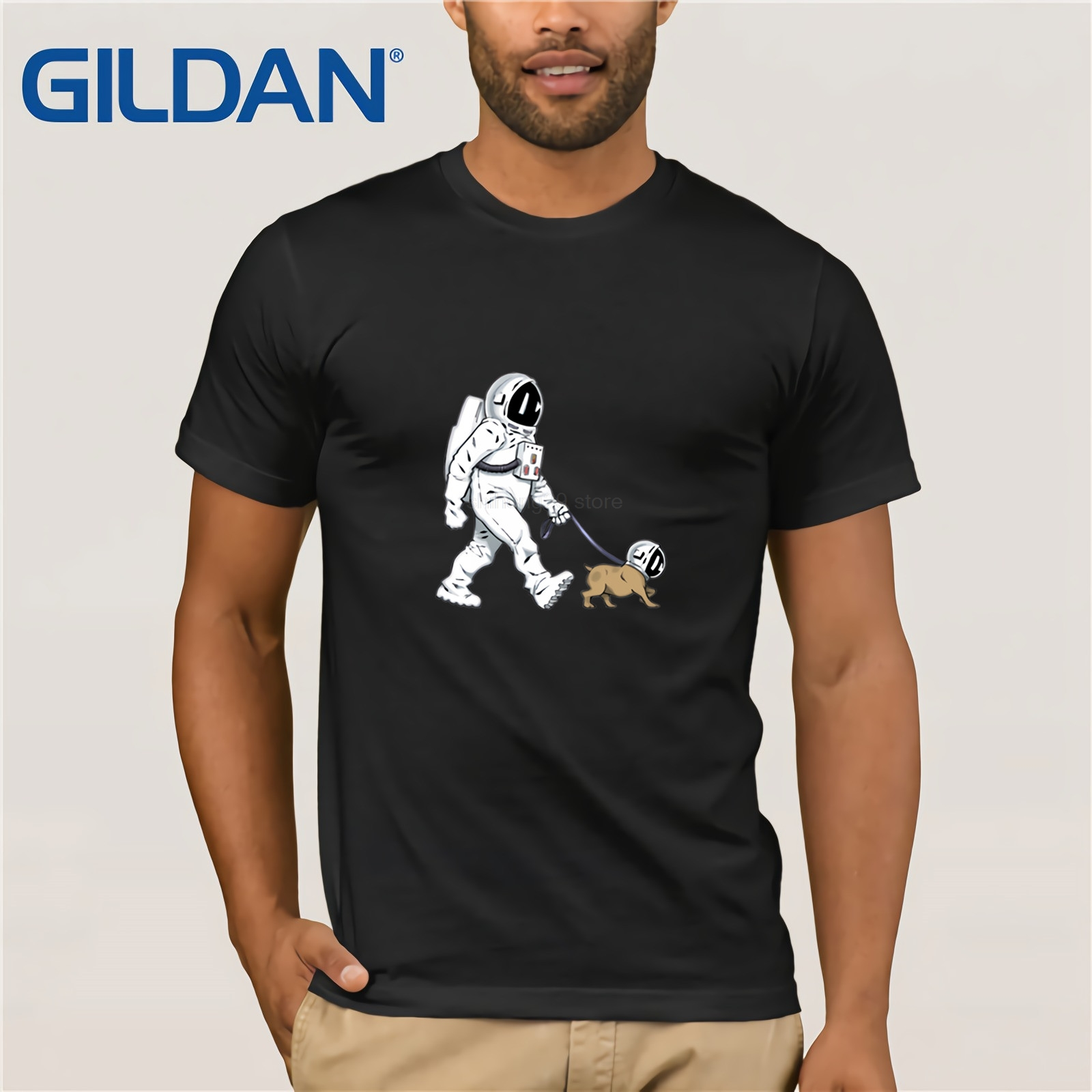 The Walking Dead T Shirt Men Spacex Spaceship Tshirt Astronaut Dog Cool T-Shirt Rocket Tshirt Homme Starmanx Space Dog Tees Tops image