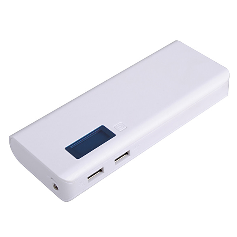 Universal DIY Dual USB 5 x 18650 LCD Display Mobile Phone Power Bank Battery Charger Case Box Untuk iPhone Untuk Xiaomi Powerbank
