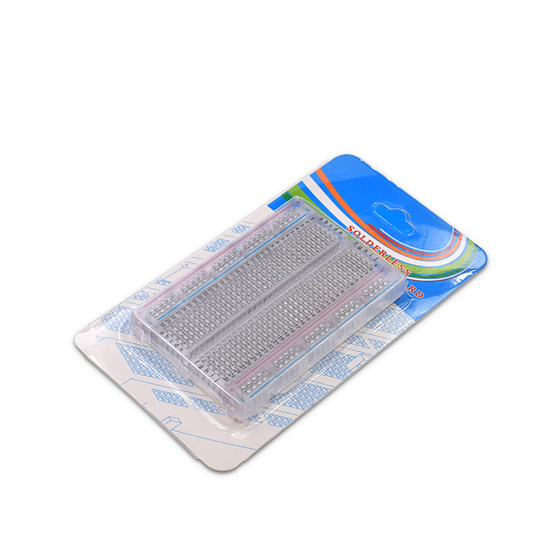 Wholesale 20pcs/lot Quality Mini Bread Board / Breadboard 8.5CM X 5.5CM 400 Holes Transparent