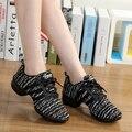 Летние дышащие женские танцевальные кроссовки  мягкая подошва  удобная гибкая спортивная обувь для танцев для девочек  для девочек  для дет...