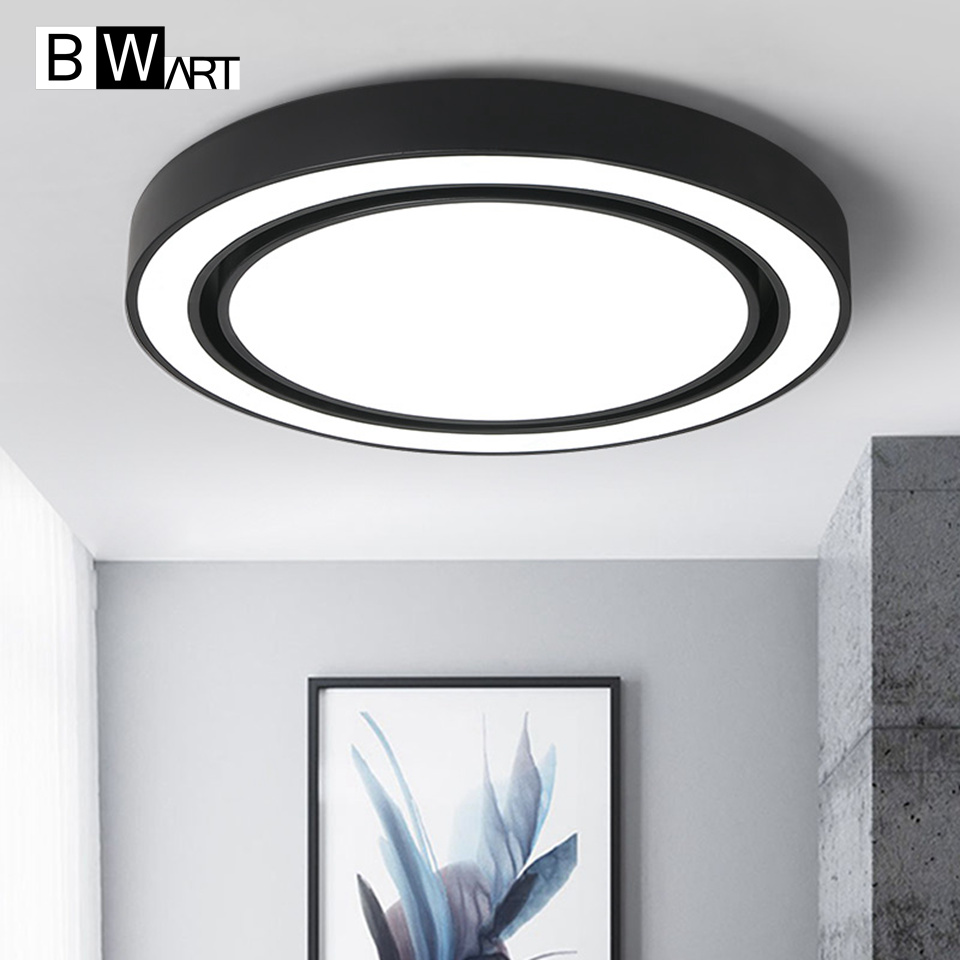 BWART современный светодио дный потолочный светильник Потолочная лампа с дистанционным управлением круглый светильник для столовой Гостина