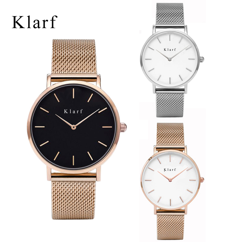 Luxury klarf Jewelry Ladies Quartz Watch Dress Fashion Casua