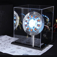 endgame cool 1:1 scale Iron Man Arc Reactor A generation of glowing iron man heart model with LED Light Action Figure Toy