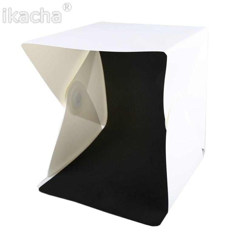 Mini caja plegable difusa de estudio flexible con luz LED, fondo - Cámara y foto - foto 6