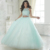 Vestidos De 15 Años Debutante vestido de Baile Vestido de Renda Azul para 15 Anos Duas Peças Cheap Quinceanera 2017 Apliques QR74