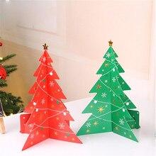 small 3d paper christmas tree diy paper made desktop xmas tree ornaments nice gift festival party xmas new year ornaments - Desktop Christmas Tree