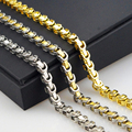 Men's Women's Gold Chain Necklace 18K Link Platinum Real Gold Plated Vintage Chain Men Women necklaces Jewelry Wholesale HZB034