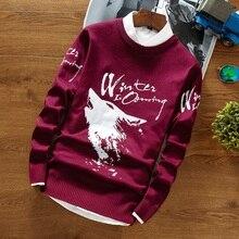 Pullover Männer Mit Wolf 2017 Modemarke männer Pullover Pullover Oansatz Slim Fit Stricken Herren Warme Weihnachten Pullover