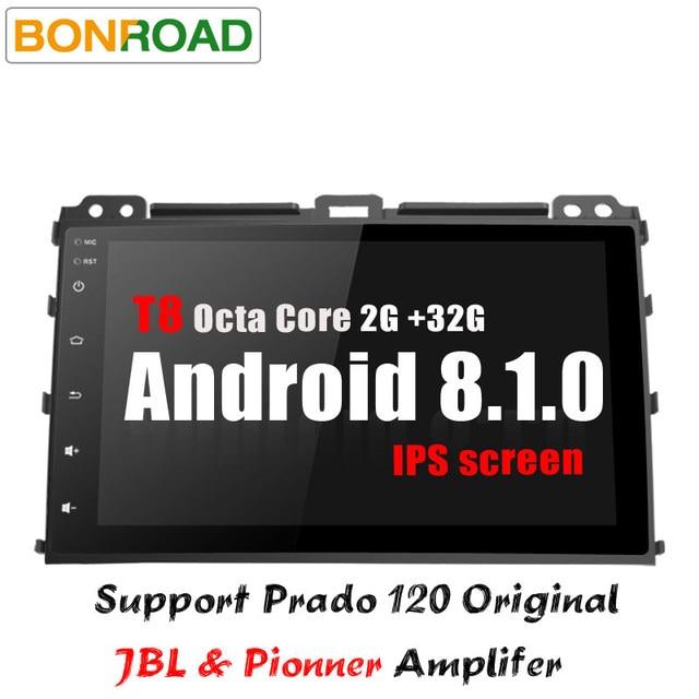 "Bonroad 9 ""2Din автомобильный Радио Android 8.1.0 RAM2G для toyota Prado 120 Land Cruiser 2009-120,2002 gps navigatio аудио bluetooth"