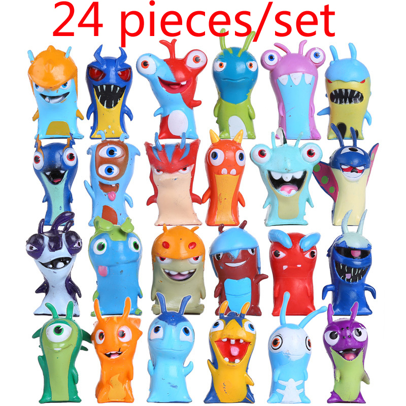 24pcs/set Slugterra Action Figures Toy 5cm Mini Slugterra Anime Figures Toys Doll Slugs Children Kids Boys Toy