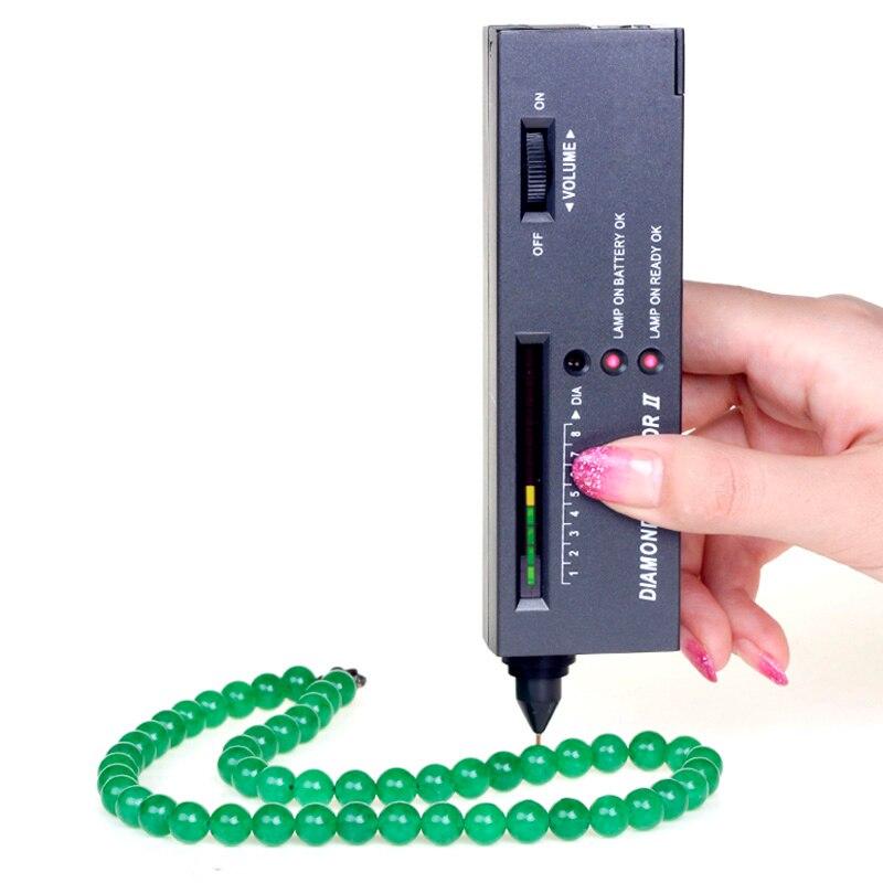 Portable Jewelry Diamond Gemstone Tester Selector Tool II LED Indicator Accurate Test Tool  ALI88 professional gemological for distinguishing real dimaond selector ii