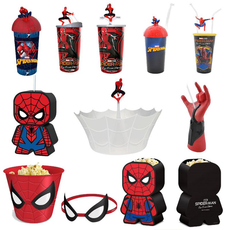 original-font-b-marvel-b-font-spider-man-far-from-home-water-cup-and-popcorn-bucket-mcu-movie-heros-model-spider-man-toy-collectible-kid-gift