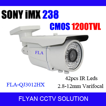 Highest CMOS 1200TVL IR Cctv Camera With 2.8-12mm Manual Zoom Outdoor/indoor Waterproof CCTV Camera With Bracket, Paypal Accept