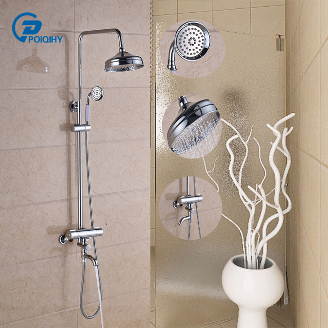 Armaturen badewanne wasserfall  Thermostat Bad leuchte sets armaturen set 8 zoll showerhead ...