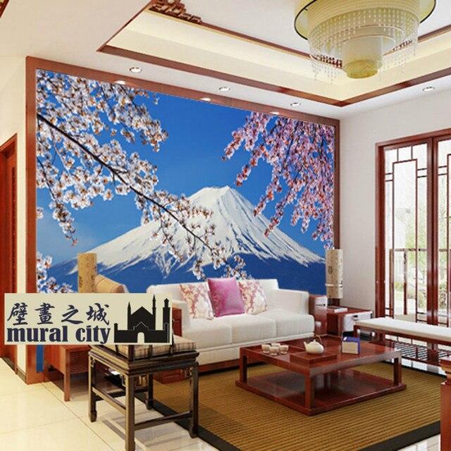 japan japanese custom 3d wallpaper murals wallpapers restaurantjapan japanese custom 3d wallpaper murals wallpapers restaurant sushi restaurant backdrop of mount fuji cherry
