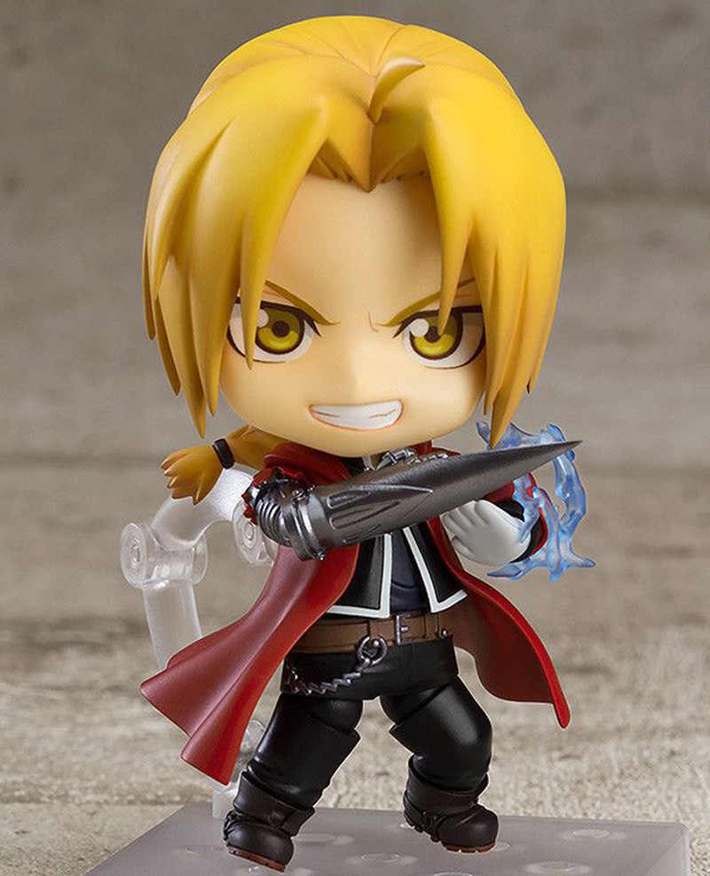 10cm anime edward elric figure fullmetal alchemist roy mustang 788 nendoroid model kids gifts no